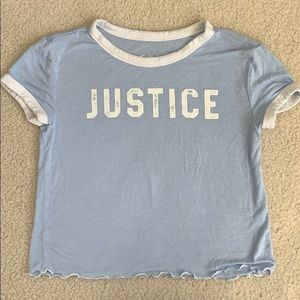 Justice shirt Size 6/7